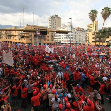 Chavistas in Caracas (AVN)