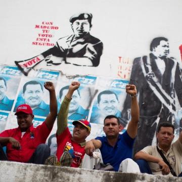 Chavistas in Caracas (EFE)