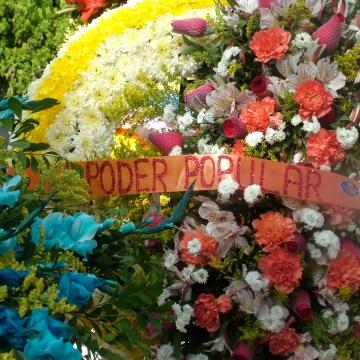 "A tribute was paid to ""popular power"". (Tamara Pearson/Venezuelanalysis)"