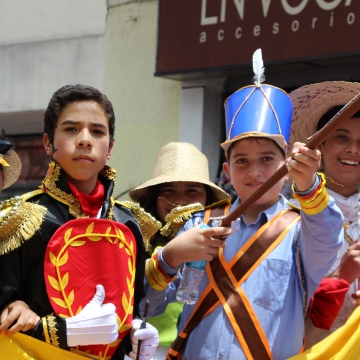 The parade follows the route of Simon Bolivar. (Ryan Mallett-Outtrim/Venezuelanalysis)