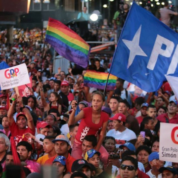Different organisations from the pro-government Great Patriotic Pole (GPP) coalition were present. (Prensa Miraflores)
