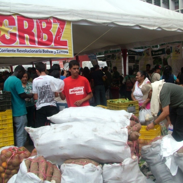 Produce from the Revolutionary Current Bolivar and Zamora