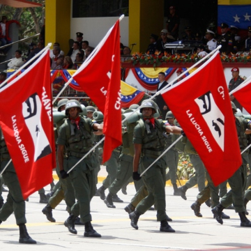 Military parades also marked the occasion.  (Fausto Torrealba/AVN)