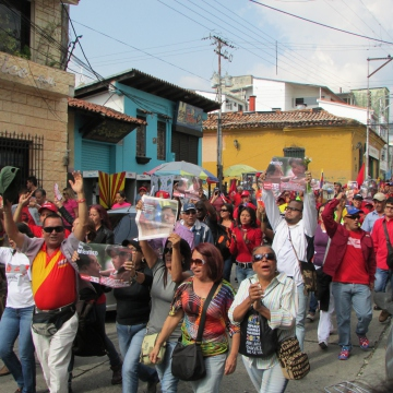 A march in Merida. (Ewan Robertson/Venezuelanalysis)