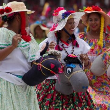 Marches also displayed Venezuelan culture.  (Luis Plaza/Vicepresidencia)