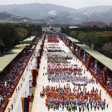 A parade in Caracas. (Prensa Presidencial/AVN)