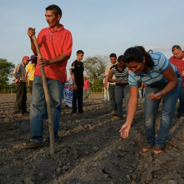Voluntary work in Commune Colinas del Viento, Biruaca, Apure.
