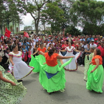 Various cultural activities took place, such as this traditional dance.