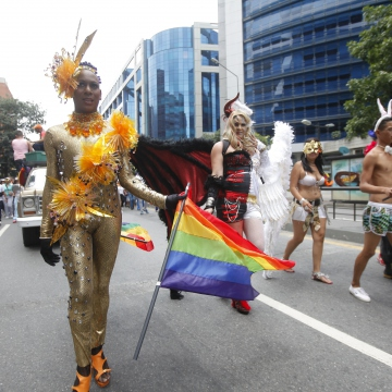 Venezuelans march in the 14th annual Pride Parade in Caracas. (SIBCI)