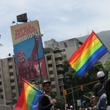 Venezuelans march in the 14th annual Pride Parade in Caracas. (VTV)