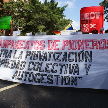 "Against privatisation, for collective, self-managed property"" (Jonas Holldack - Venezuelanalysis)"