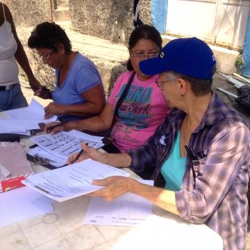 The electoral committee (Rachael Boothroyd Rojas - Venezuelanalysis)