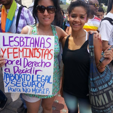 Self-identified independent feminists declare their support for safe, accessible and informed abortions in Venezuela. (Jeanette Charles/Venezuela Analysis)