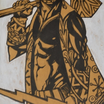 Changó, a warrior Yoruba deity (Rachael Boothroyd Rojas/Venezuelanalysis.com).