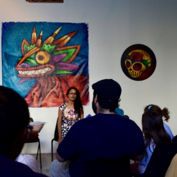 A Caribbean poetry reading was also organised as part of the exhibition, entitled  (Rachael Boothroyd Rojas/Venezuelanalysis.com)
