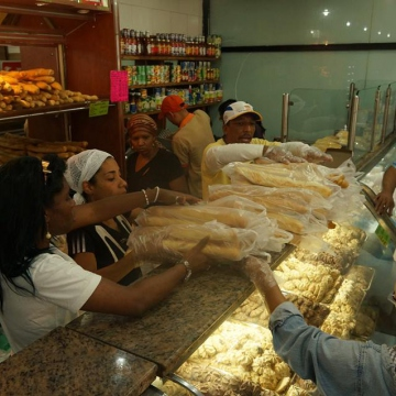 The bakery is now doing a roaring trade, selling low cost bread aimed at working class Venezuelans.