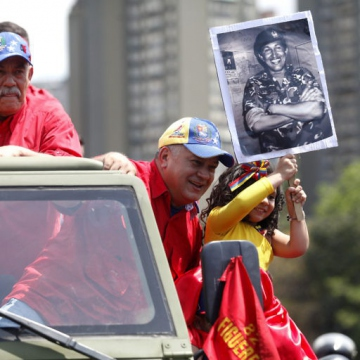 United Socialist Party of Venezuela (PSUV) Vice-President Diosdado Cabello also took part in the parade.
