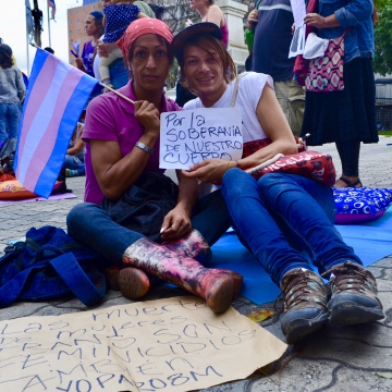 Trans activists demand inclusion in the feminist movement, as well as sovereignty over their bodies. (Rachael Boothroyd Rojas/Venezuelanalysis)