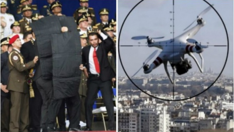 A DJI M600 drone was used to carry C4 explosive charges towards the president Saturday
