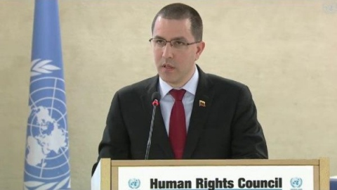 Venezuela's Foreign Minister Jorge Arreaza called for solidarity against interventionism
