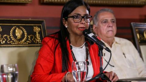 Venezuelan ANC President Delcy Rodriguez. (EFE)