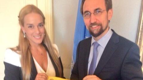 Lilian Tintori and Zeid Ra'ad Al Hussein