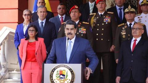 "President Maduro decreed a ""state of emergency"" due to the coronavirus on Thursday. (Twitter/@NicolasMaduro)"