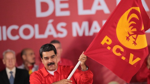 President Nicolas Maduro received the endorsement of the Venezuelan Communist Party on February 26