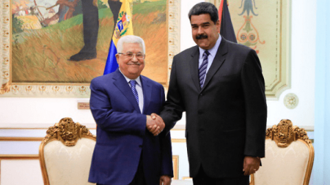 Mahmoud Abbas and Nicolas Maduro