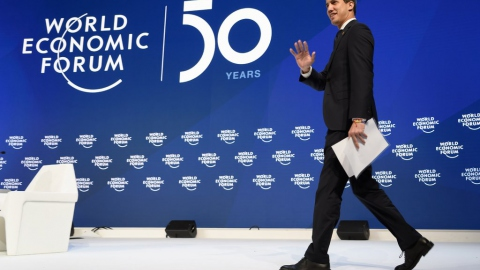 Venezuelan opposition politician spoke at the World Economic Forum on Thursday in Davos, Switzerland on Thursday. (Fabrice Coffrini/Agence France-Presse/Getty Images)