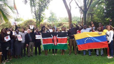 Kenya:  Students And Activists In Nairobi Support Venezuelan People