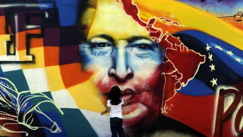 A mural of Chavez