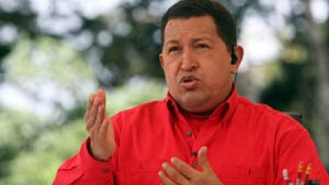 Venezuela President Hugo Chavez on his TV program Aló Presidente this Sunday (ABN)