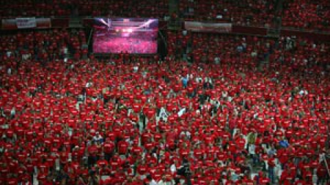 Thousands of PSUV spokespersons meet in Caracas for a swearing-in ceremony (ABN)