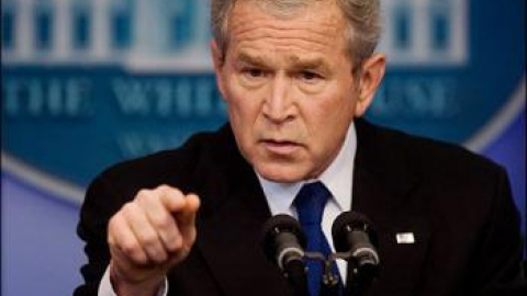 George Bush speaking at White House press conference (AFP)
