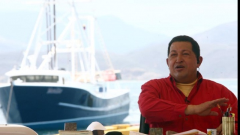 President Chavez speaks about the trawl fishing