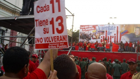 Rally remembering the April 13 victory, Caracas (Zachary Lown, Venezuelanalysis.com)