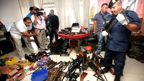 Sophisticated weaponry that was confiscated on Friday (ABN)