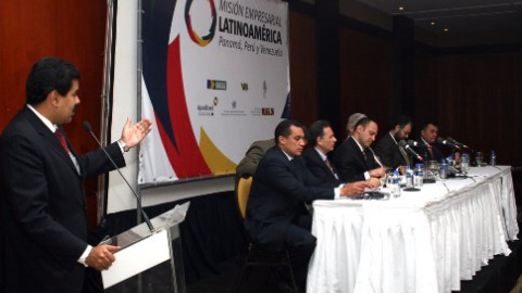 Venezuelan Foreign Minister Nicolas Maduro addresses Brazilian