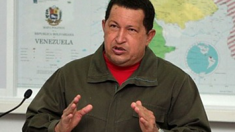 Venezuelan President Hugo Chavez during his address to the nation, Friday (YKVE Mundial)