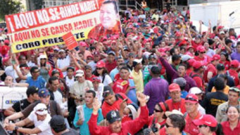 Supporters of Venezuelan President Hugo Chavez celebrate the Day of National Dignity (ABN)