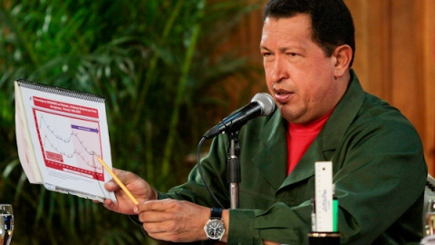 President Hugo Chavez during the credit granting ceremony (PP)