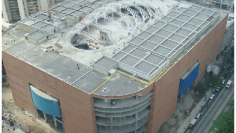 La Candelaria shopping centre, under construction (archive)
