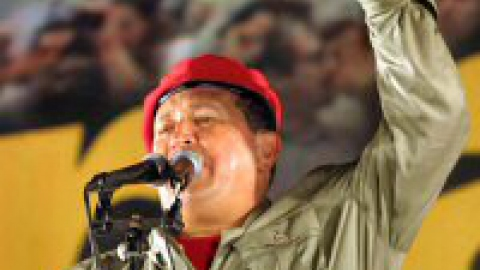 Hugo Chavez during a rally in Feb. 4,  2004