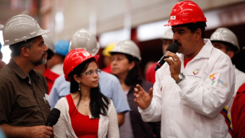 Maduro in factory