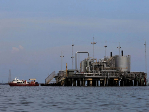 DVSA's oil installations in Lagunillas, in the Maracaibo Lake, western Venezuela