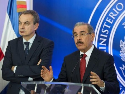 ominican Republic President Danilo Medina [middle] explained the talks had broken down at a press conference Wednesday