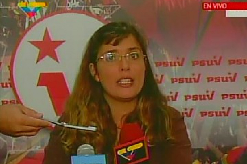 PSUV leader Vanessa Davies denounced the collaboration between the private media and opposition parties against the amendment. (VTV)