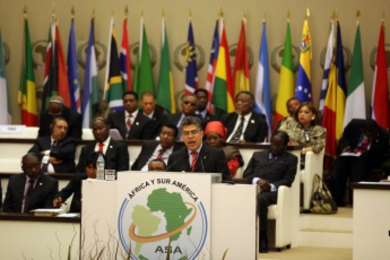 Venezuelan foreign minister Elias Jaua speaking at the III Africa – South Americ