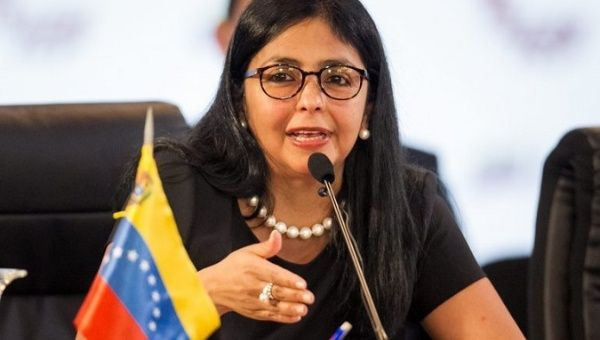 Vice President Delcy Rodriguez said the Venezuela state continues to strengthen its bonds of brotherhood through its economic projects with its allies abroad.(EFE)